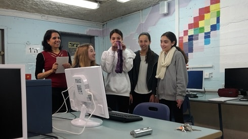 The entrepreneurial girls demonstrated the product usefulness