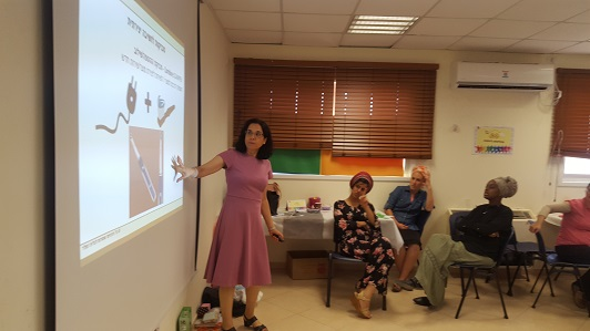 Galit Zamler led a day of preparation for the school staff