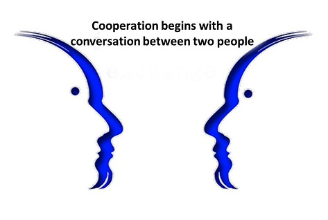 People speak to one another