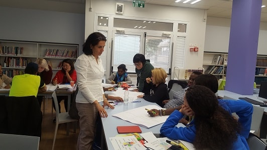 a workshop by Galit Zamler on the subject of entrepreneurship education within the school