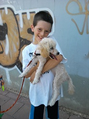 Roy in picture with Bilbi the dog