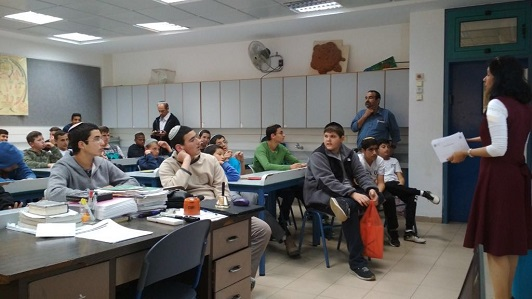 First meeting of the Hackathon at the Yeshiva in Kiryat Arba