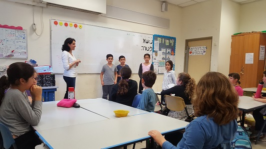 Galit Zamler's Entrepreneurship Meeting with 4th Grade Students