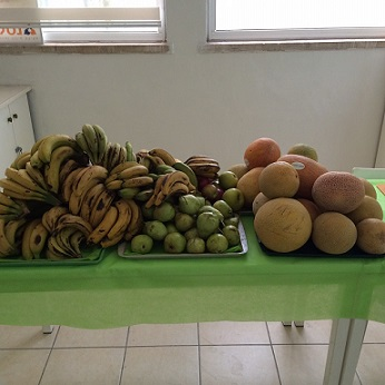 Squeezed fruit stand