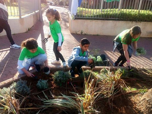 green initiative group in Be'eri school in Netanya