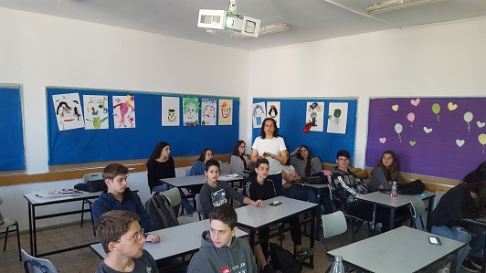Galit Zamler talks with High school students