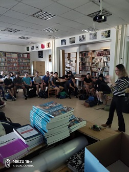 Lecture on patents for students at Israeli junior high school