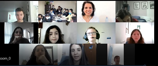 An online meeting with students from China led by Galit Zamler and Pnina Weinstein