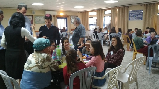 The students of the Ulpana in Kiryat Arba take part in Hackathon for students