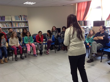 Liat's lecture at the HaShalom school