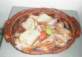 A basket of sandwiches