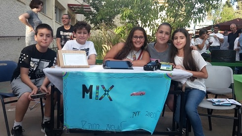 Mix's creative team at the school's Entrepreneurs Convention