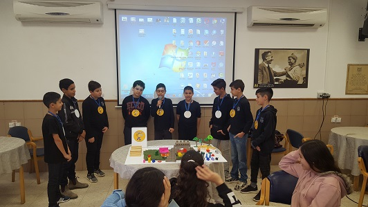 Presentation of ideas for projects by sixth graders at Rivka Guber School