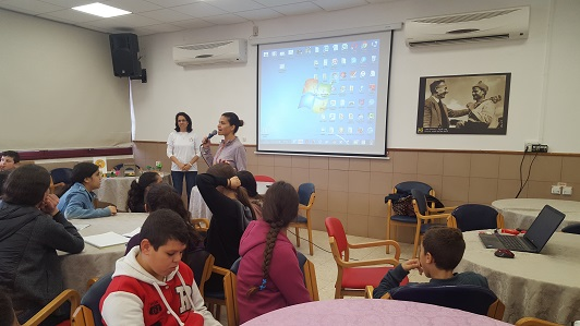 Presentation of the ideas for the projects of the students of the school Rivka Guber
