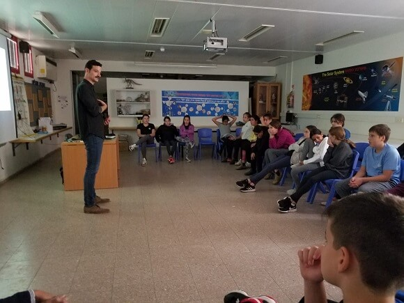 Lecture on Space Exploration at the HaYovel School