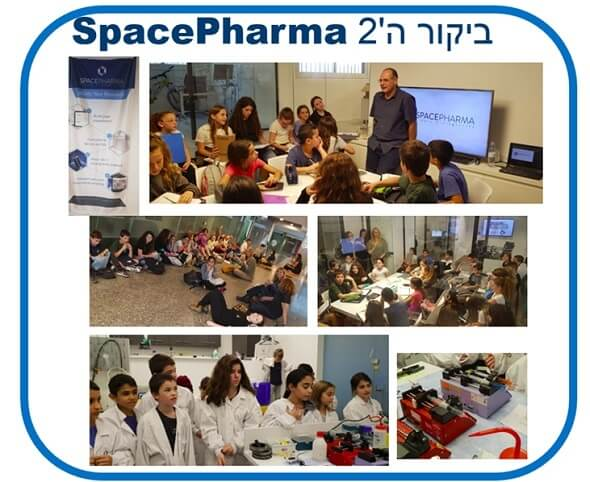 Sadot students at a visit to Space Pharma