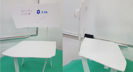 Invention of children chair for student with an airbag