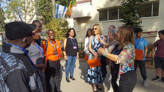 A delegation from Uganda in a visit at the A. D. Gordon School in Kfar Saba